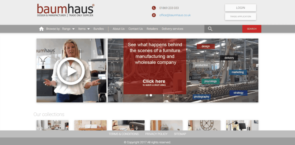 Baumhaus homepage furniture supplier