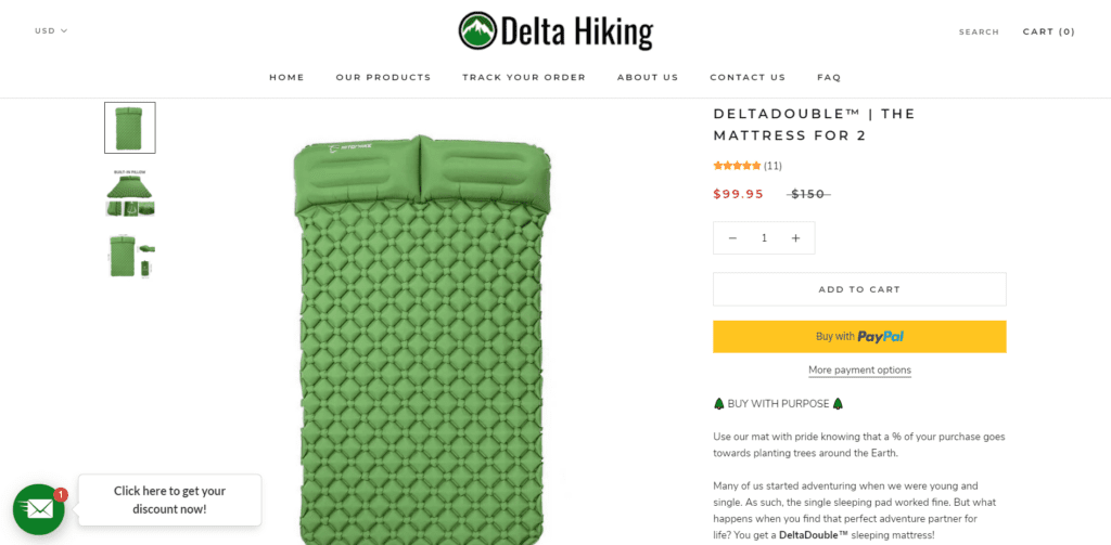 Delat Hiking product example