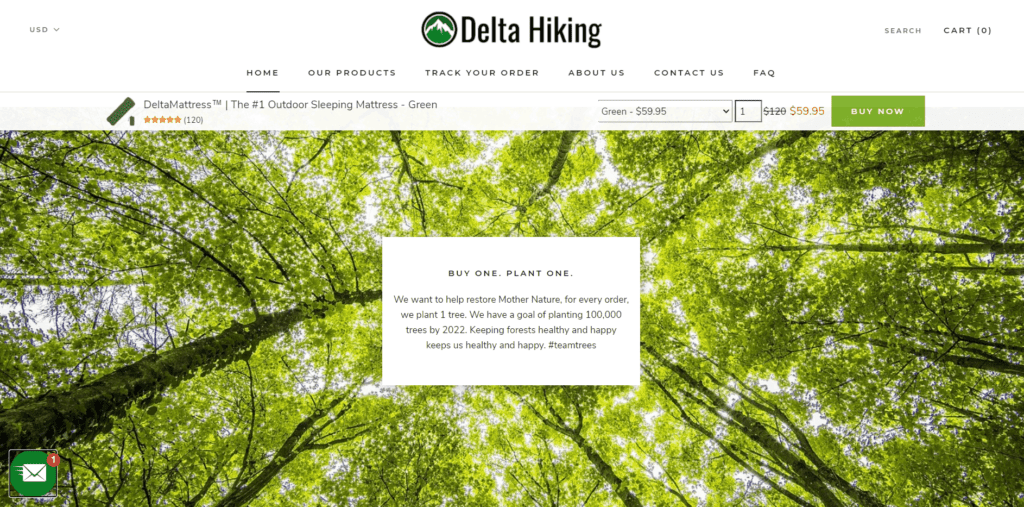 Delta Hiking good cause