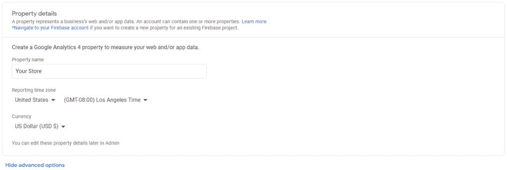 Google Analytics - Property Setup