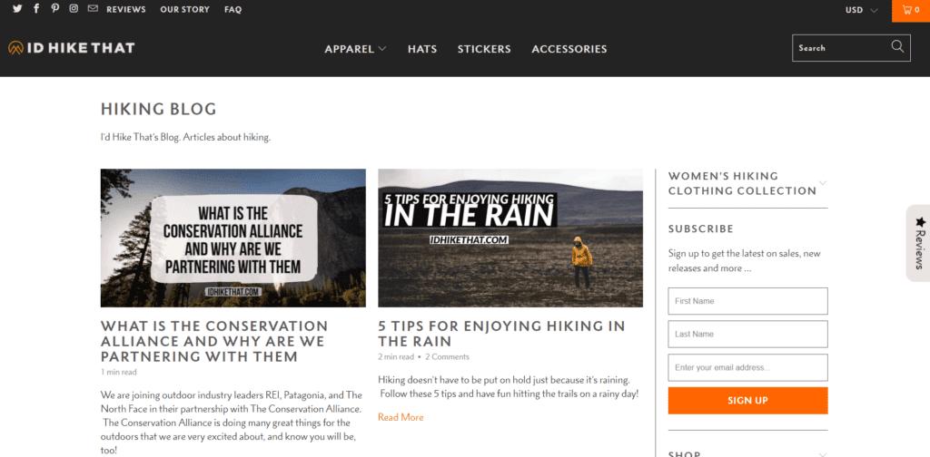 Id Hike That blog hiking niche