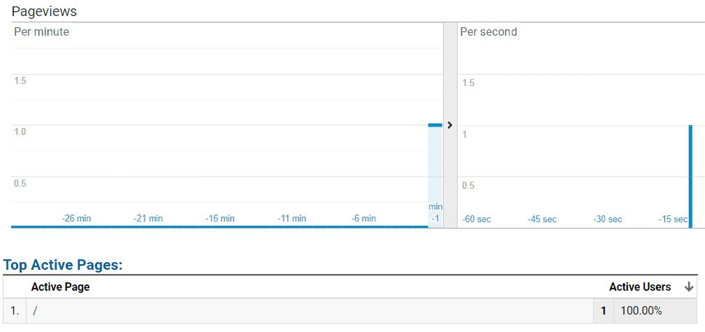 Google Analytics - Live view