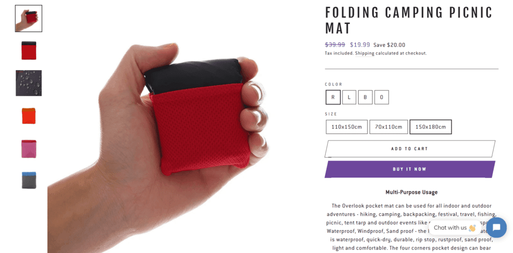 Hiking niche product example