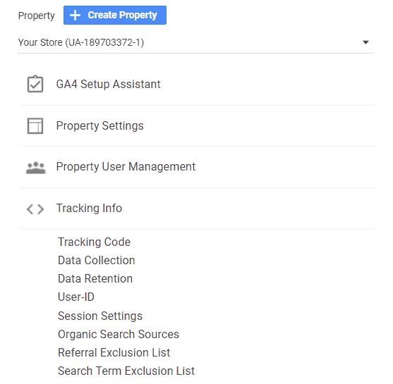 Google Analytics - Get tracking code
