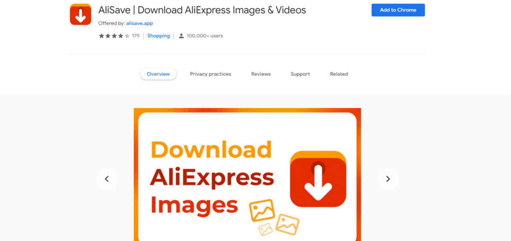 Download AliExpress videos with AliSave