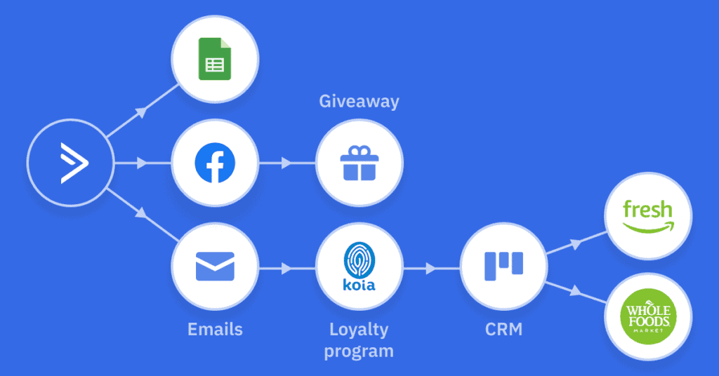 koia flow chart of email campaigns