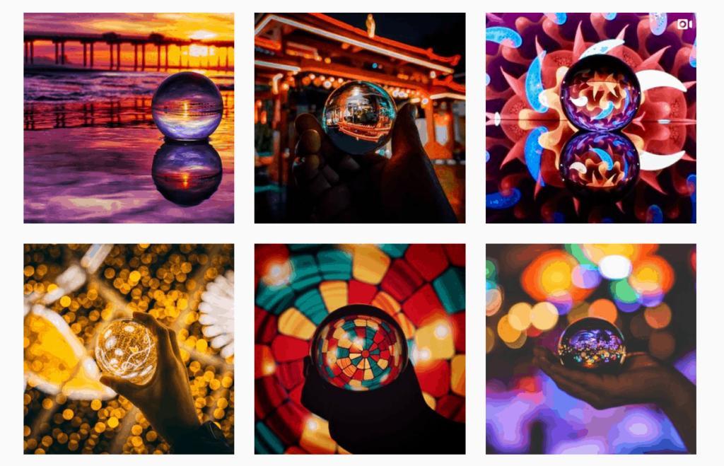 Lensball Instagram feed