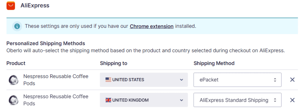 How to personalize your shipping methods in Oberlo