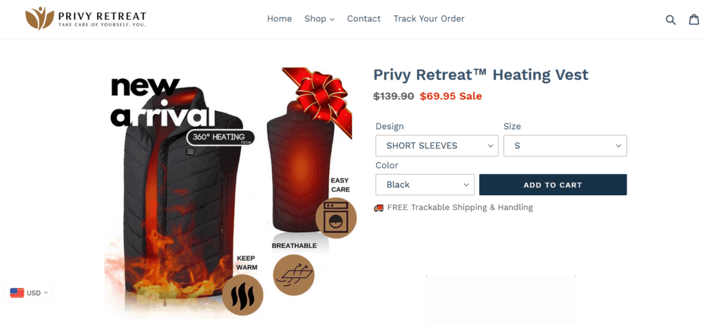 Hiking niche product example dropshipping store example