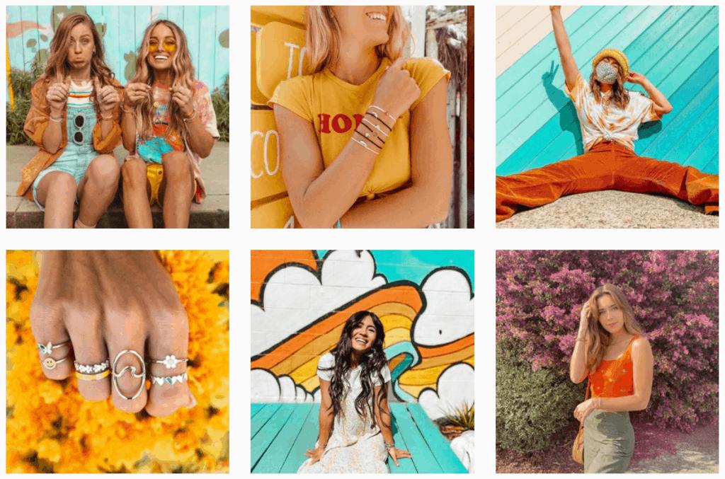 Pura Vida Instagram feed ecommerce store