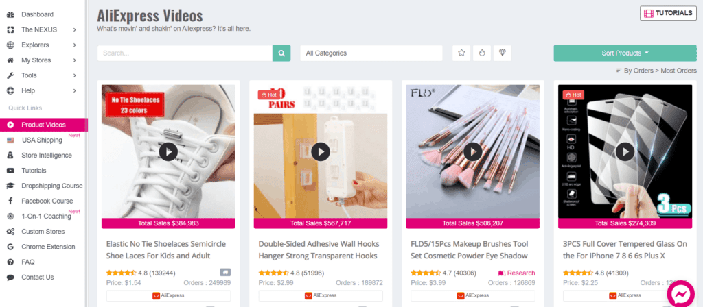 Download AliExpress product videos using Sell The Trend