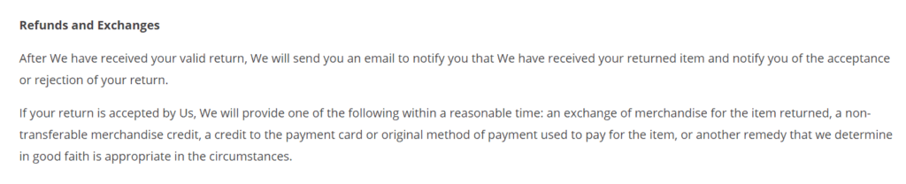 Dropshipping return policy example Cats on Catnip