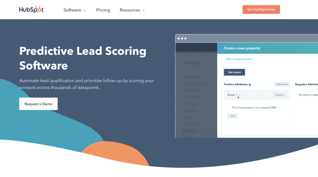 hubspot lead scoring page