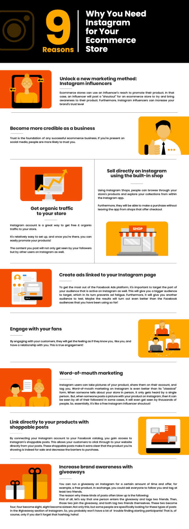Reasons to use Instagram for ecommerce - infographic