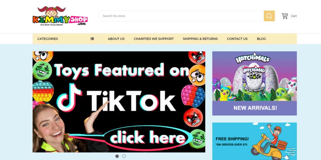 Kimmyshop homepage