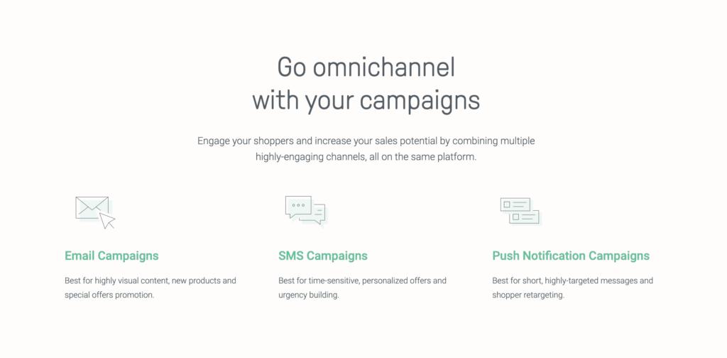 omnisend multiple channels