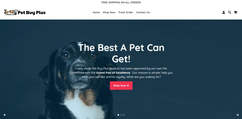Pet Buy Plus AliExpress dropshipping store example
