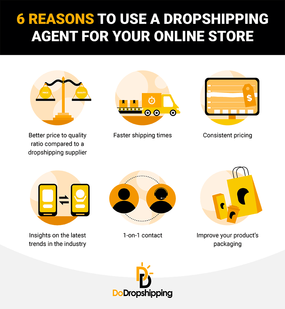 Reasons to use a dropshipping agent - infographic