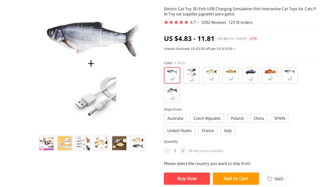 Tiny Tuna product on AliExpress