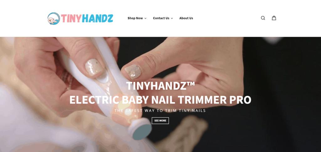 TinyHandz AliExpress dropshipping store example