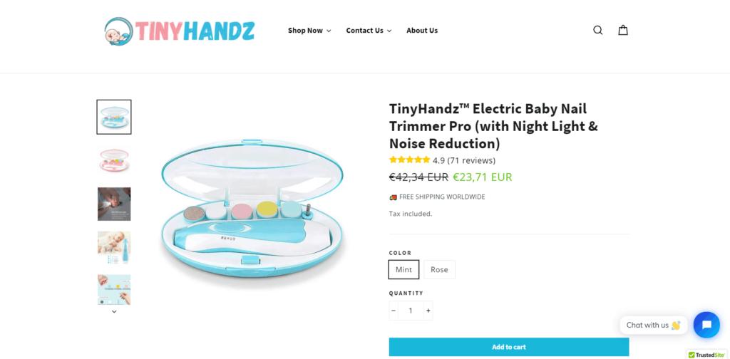 TinyHandz product example