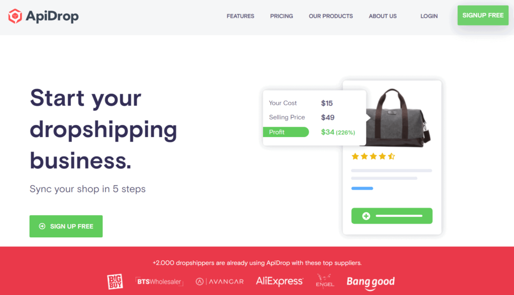 ApiDrop homepage