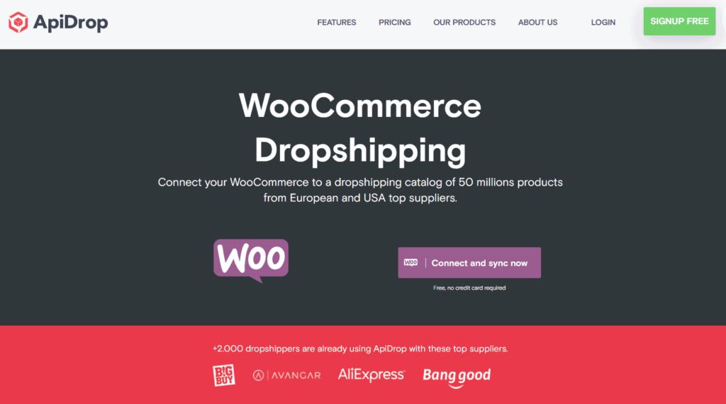 ApiDrop WooCommerce page