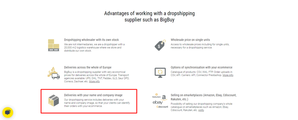 BigBuy branded packaging benefits