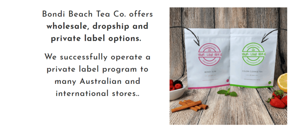 Bondi Beach Tea offering and private label program