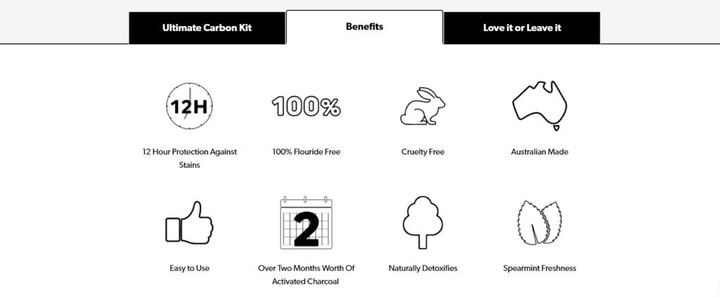 Carbon Coco product description benefits