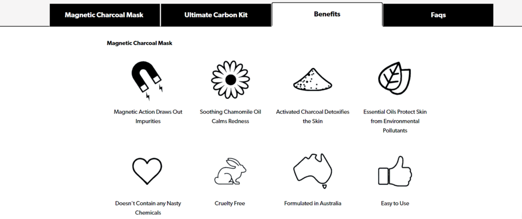 Carbon Coco product benefits example