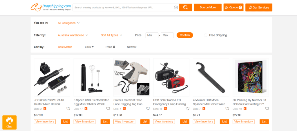 CJdropshipping product examples from Australian dropshipping suppliers