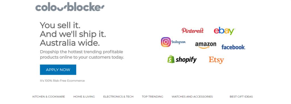 Homepage of Colourblocker