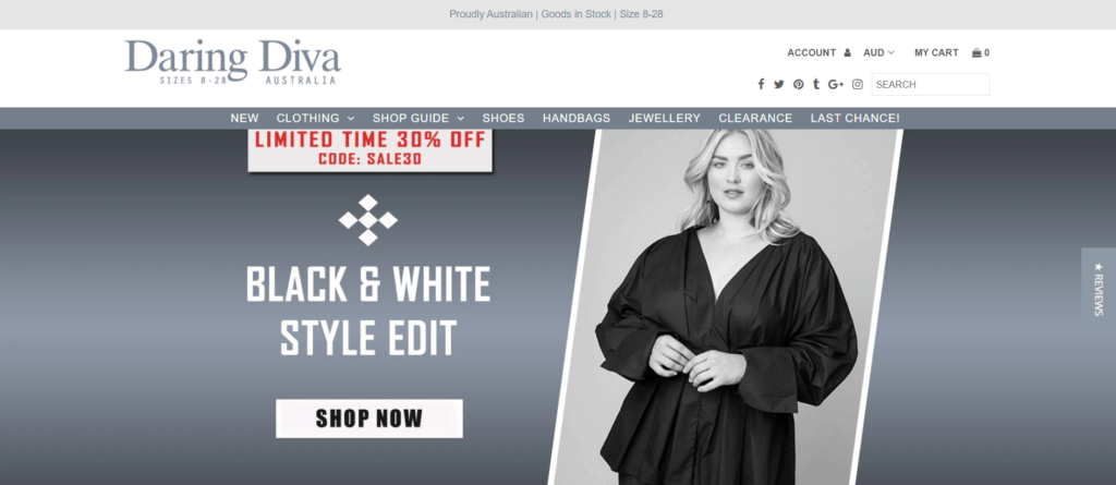 Daring Diva homepage