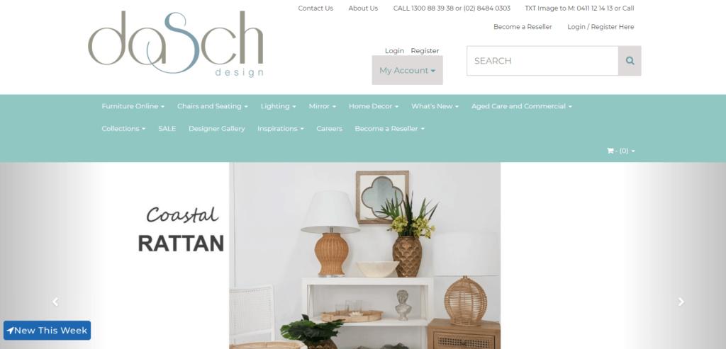 Dasch Design homepage Australian dropshipping supplier