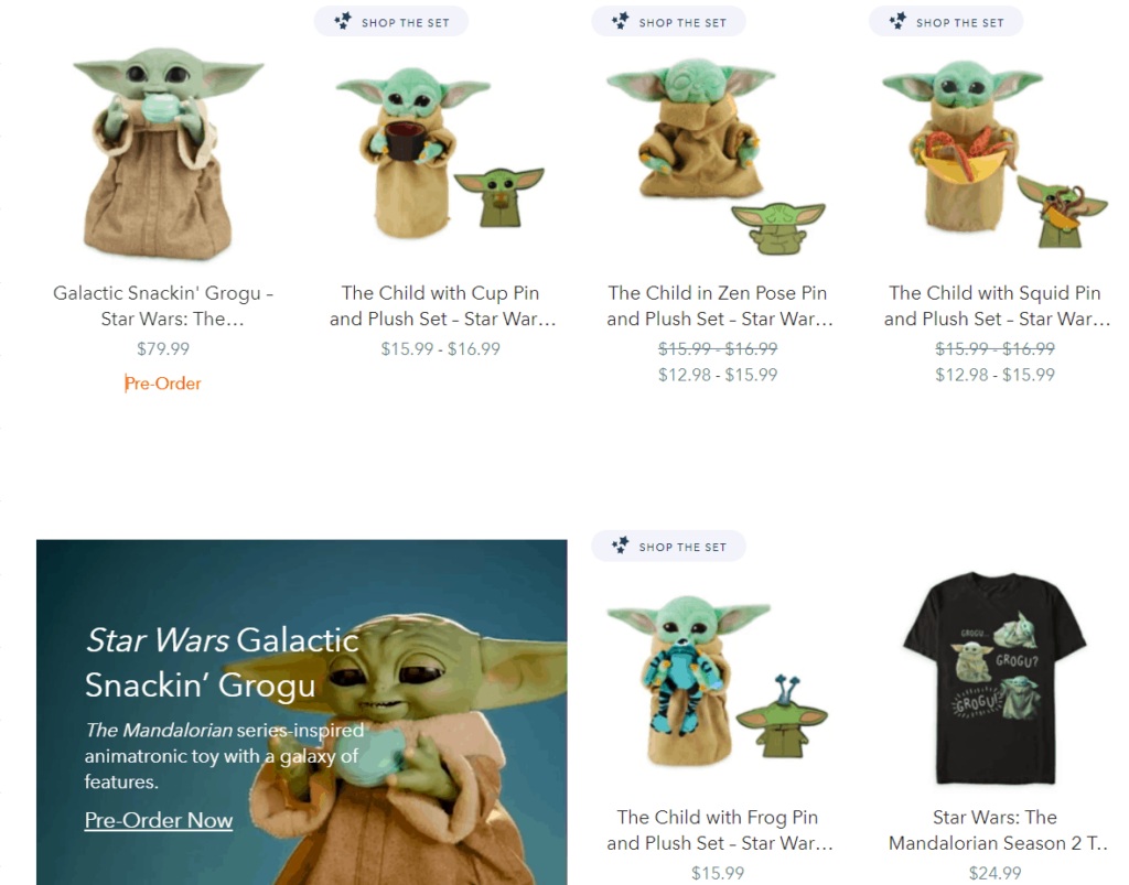 Example of trademarked merchandise at Disney