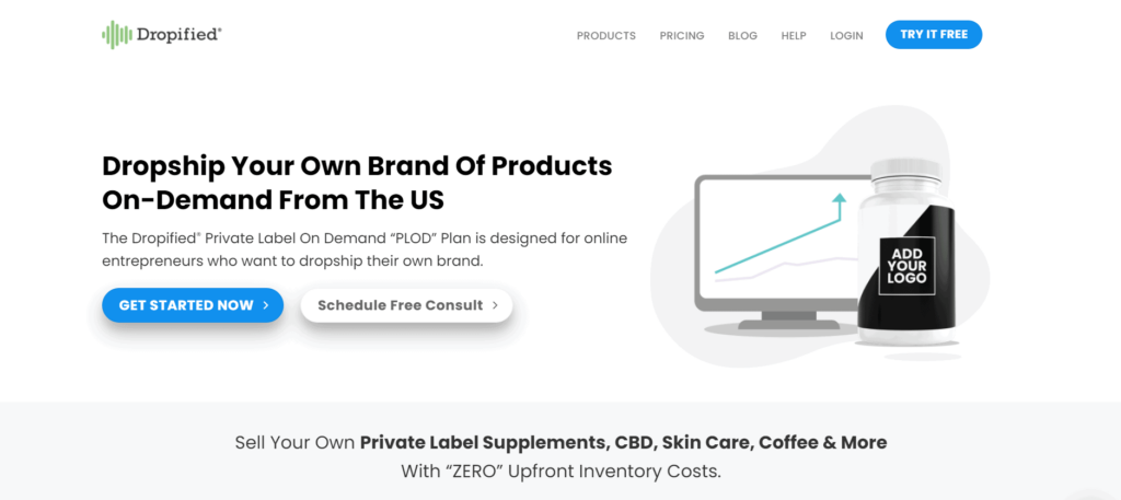 Private label dropshipping supplier example Dropified