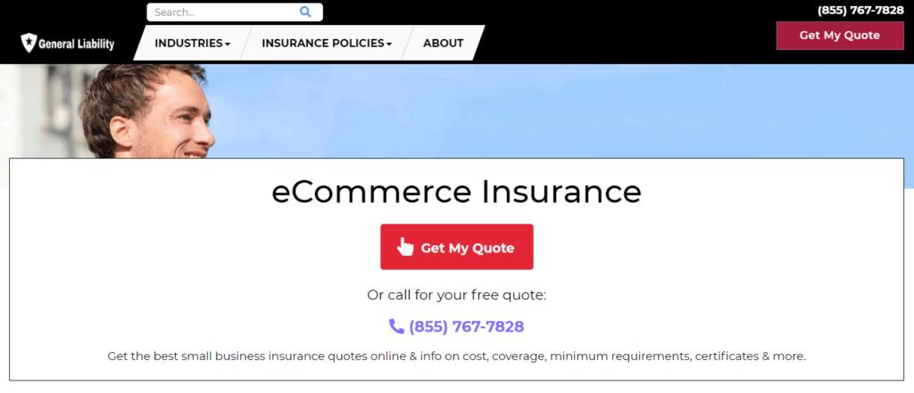 Ecommerce insurance example