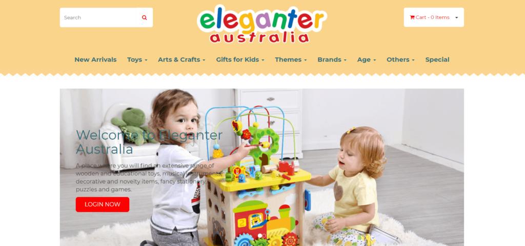 Eleganter Australia homepage