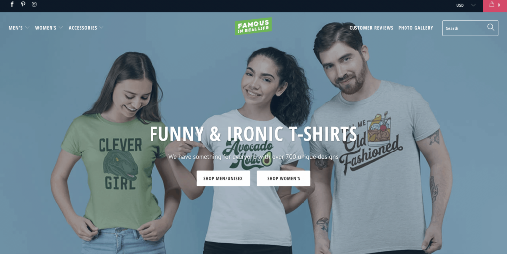 famous in real life homepage