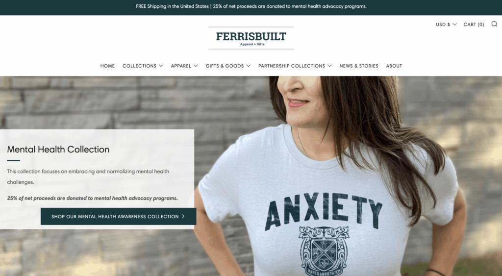 ferris built homepage