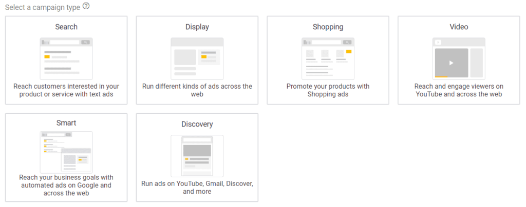 The Google Ads campaign wizard