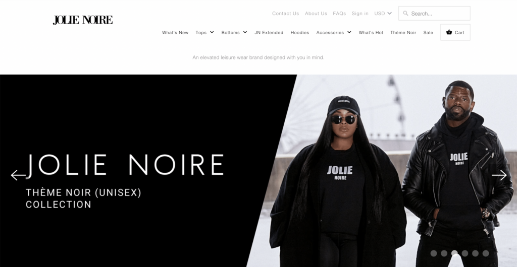 jolie noire homepage