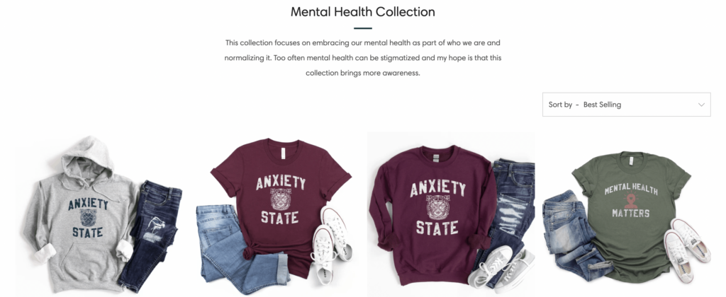 mental health support apparel