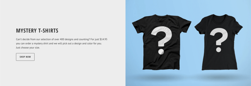 mystery product tee