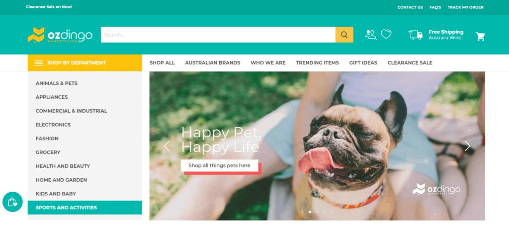 Homepage of Ozdingo