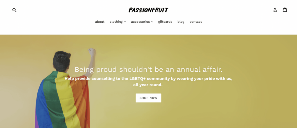 Homepage of Passionfruit