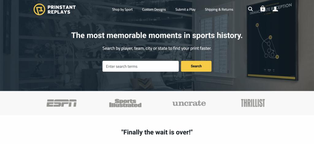 printstant replays homepage
