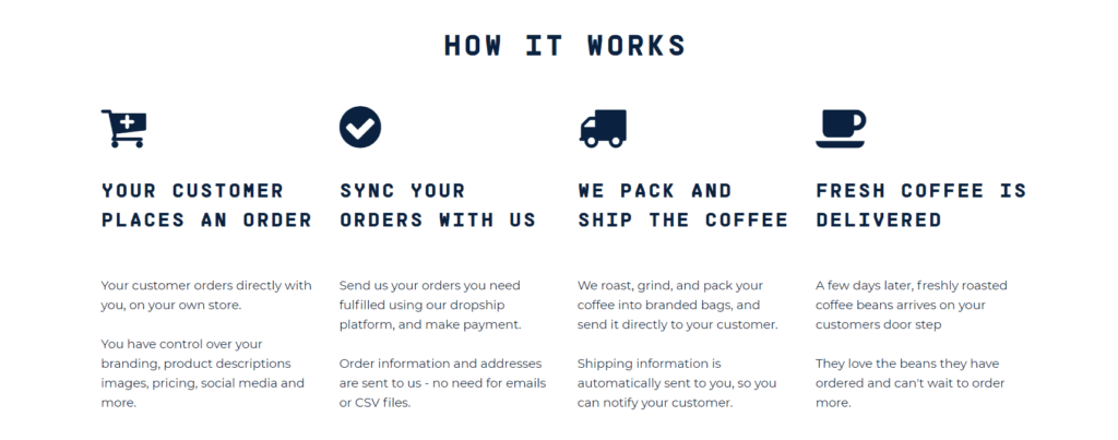 How it works to do dropshipping with Rumble Coffee