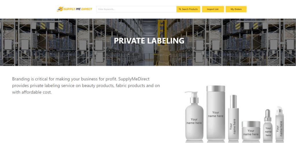 Homepage of SupplyMeDirect